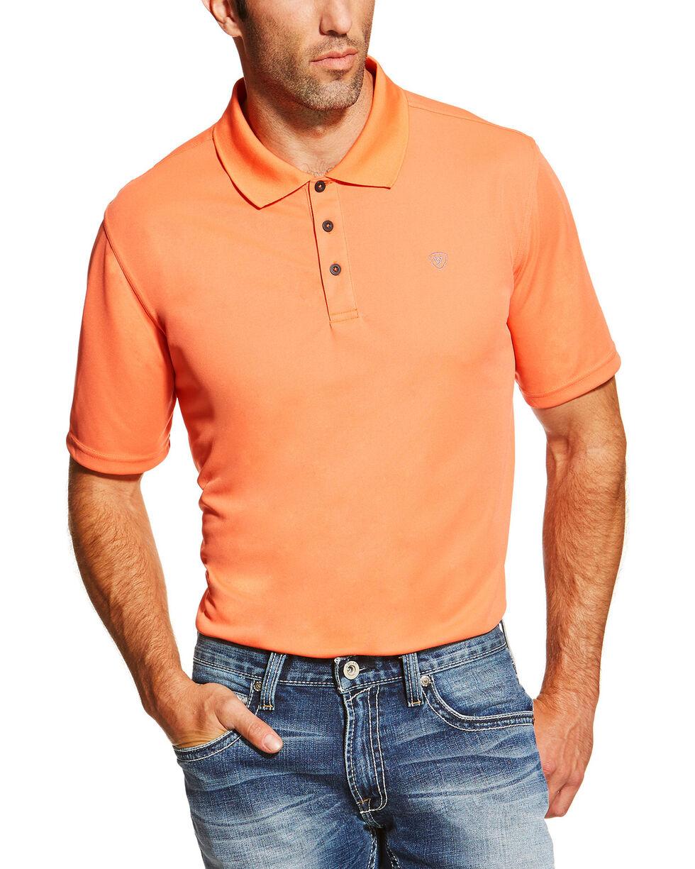 Ariat Men's Classic Short Sleeve Polo, Orange, hi-res