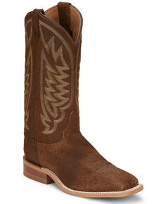 Justin Men's Andrews Western Boots - Narrow Square Toe, Tan, hi-res