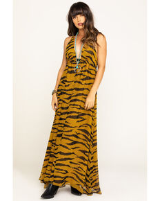 Show Me Your Mumu Women's Great Tiger Ellory Maxi Dress, Multi, hi-res