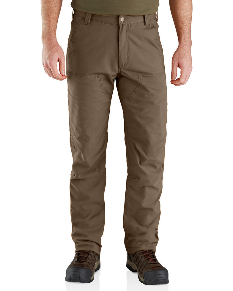Carhartt Men's Rugged Flex Upland Field Straight Work Pants , Medium Brown, hi-res