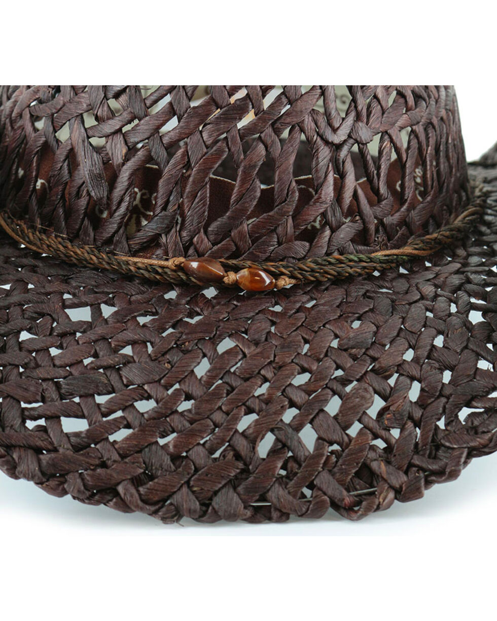 Shyanne®  Women's Ford Loose Weave Straw Hat, Dark Brown, hi-res