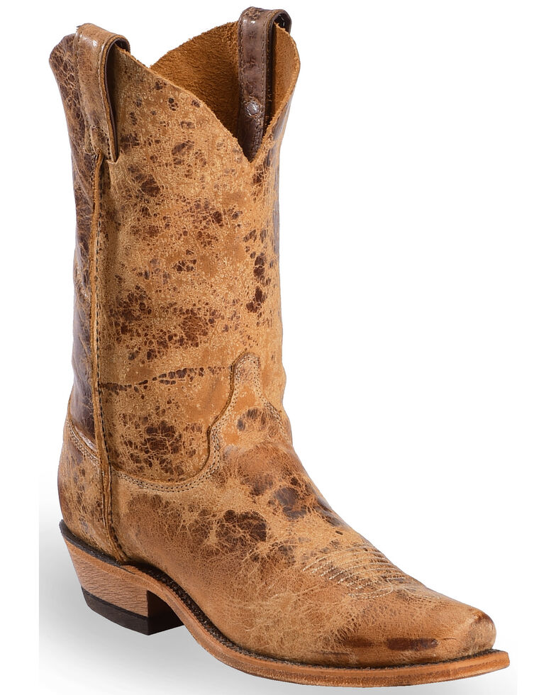 Justin Men's Bent Rail Western Boots, Tan, hi-res