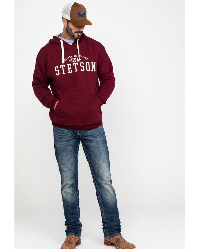 Stetson Men's USA Stetson Graphic Fleece Hooded Sweatshirt , Red, hi-res