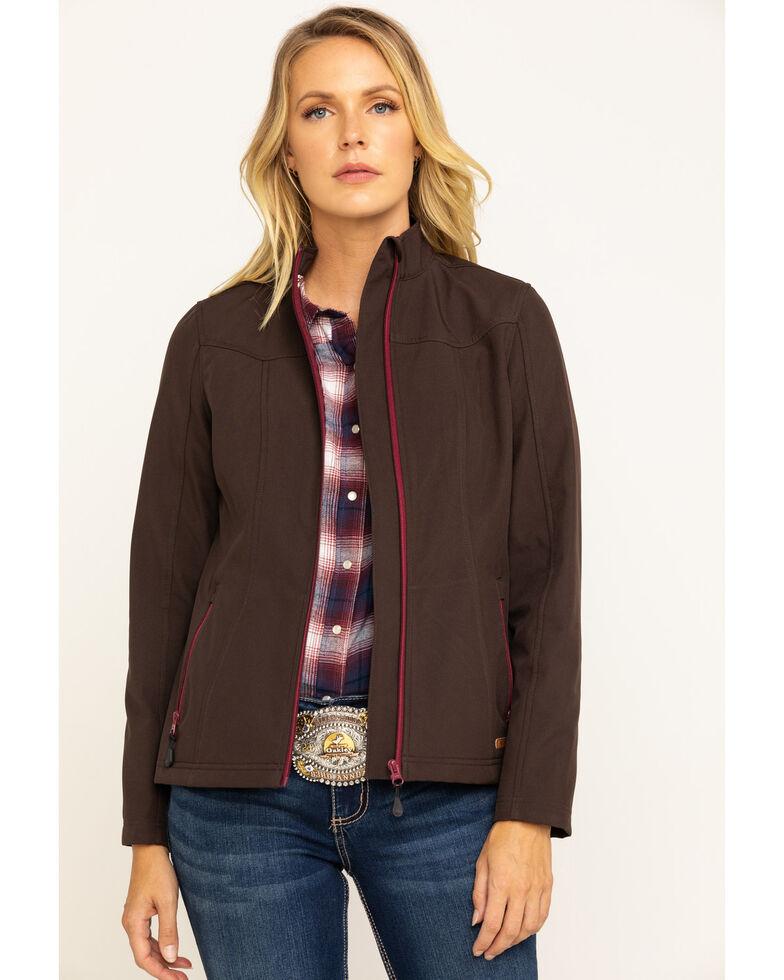 Shyanne Life Women's Dark Brown Softshell Jacket , Dark Brown, hi-res