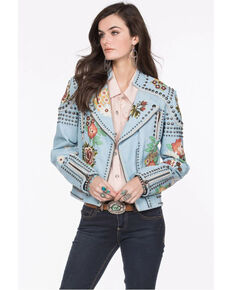 Double D Ranch Women's Blue Backwoods Barbie Jacket, Blue, hi-res