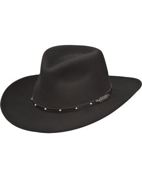 Black Creek Men's Feather Concho Western Hat , Black, hi-res