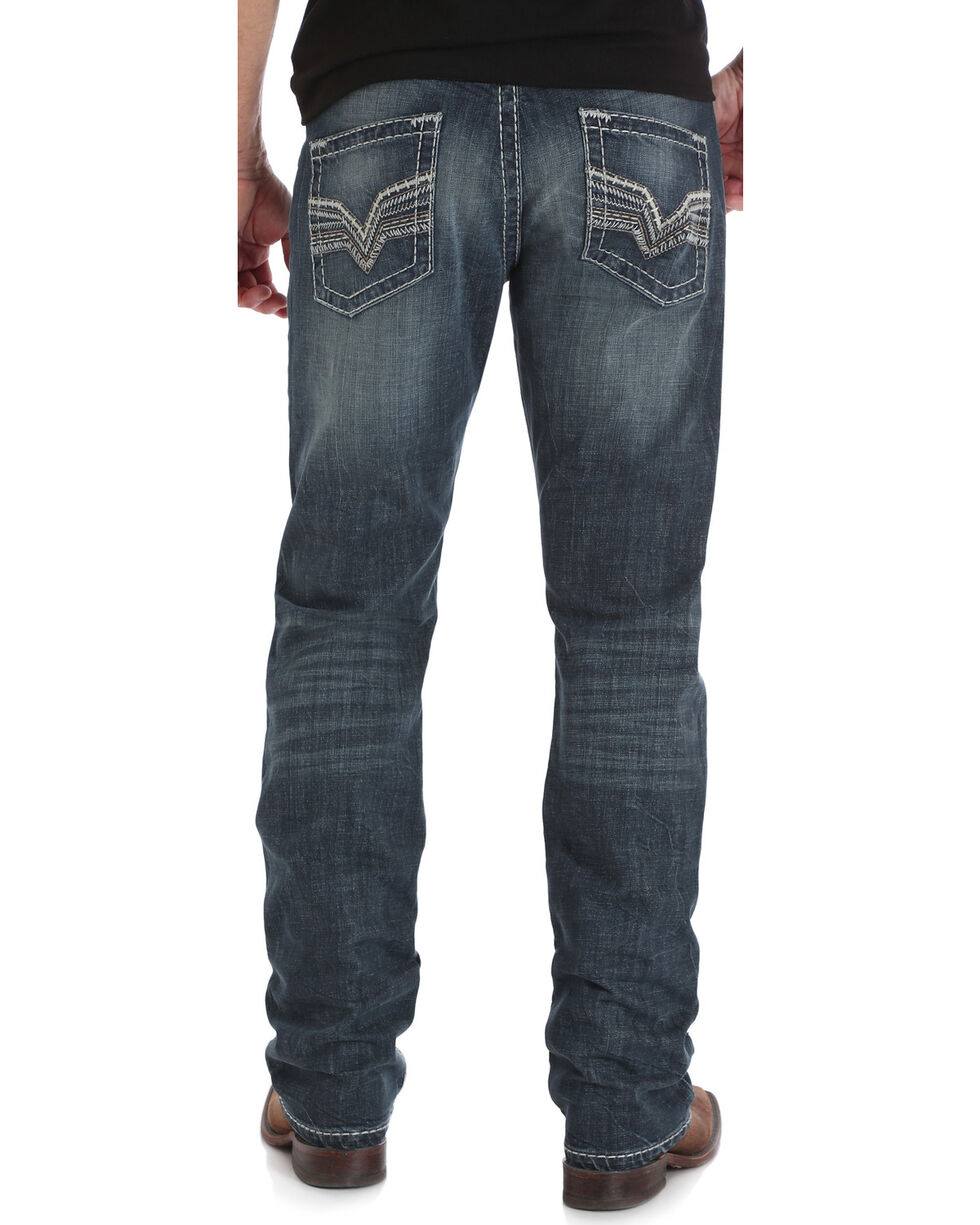 Rock 47 by Wrangler Men's Conga Slim Fit Jeans - Straight Leg, Indigo, hi-res
