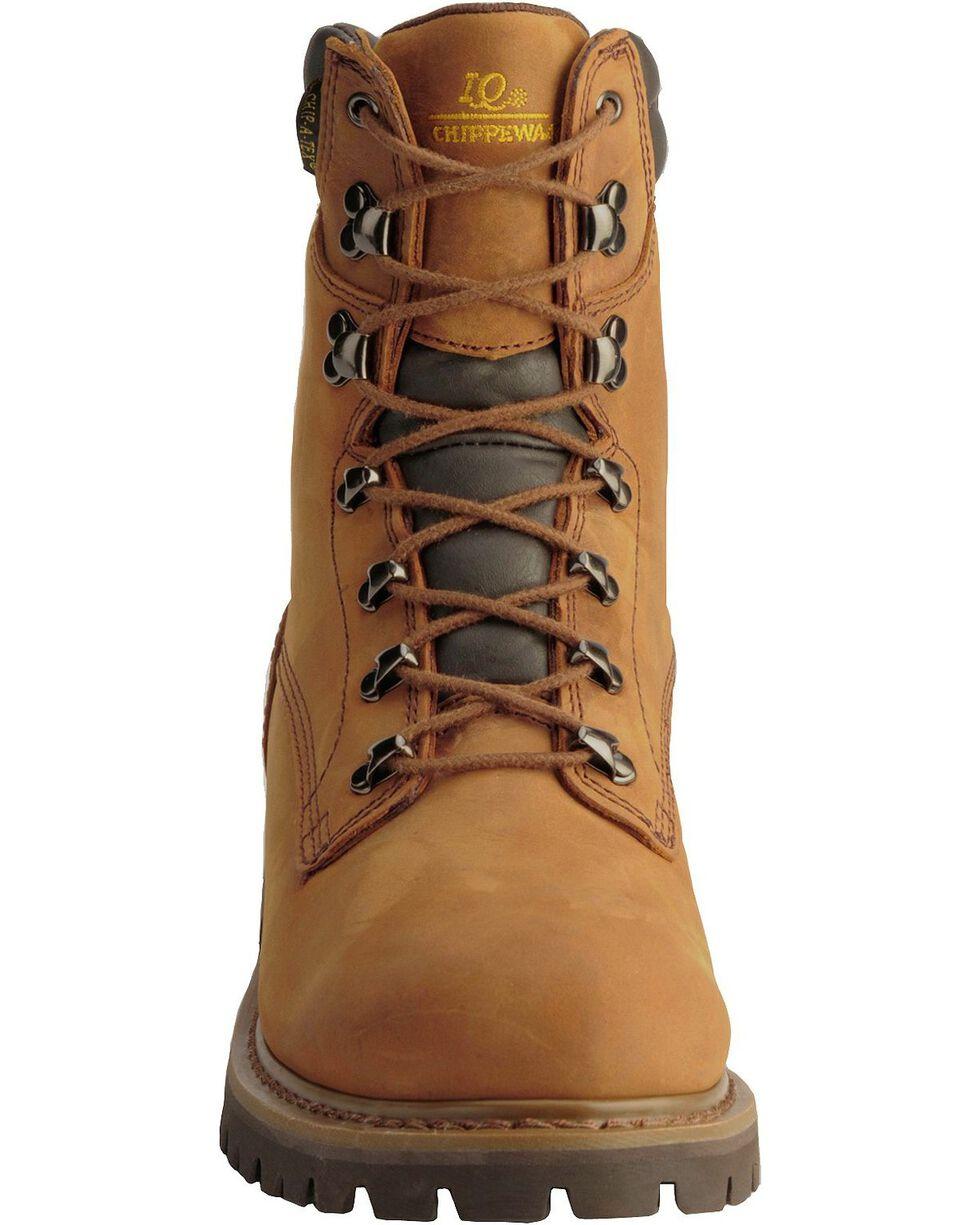 Chippewa Men's Heavy Duty Steel Toe Work Boots, Bark, hi-res