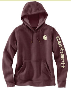 Carhartt Women's Clarksburg Graphic Sleeve Pullover Sweatshirt, Medium Brown, hi-res