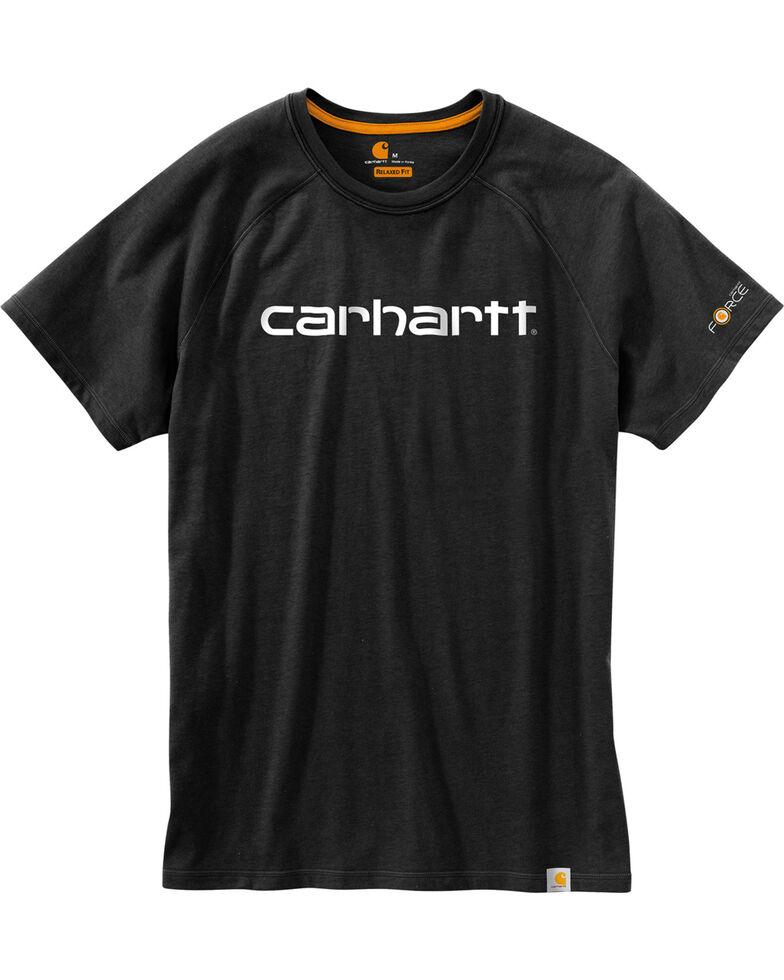 Carhartt Force Men's Cotton Delmont Graphic Short Sleeve Shirt, Black, hi-res