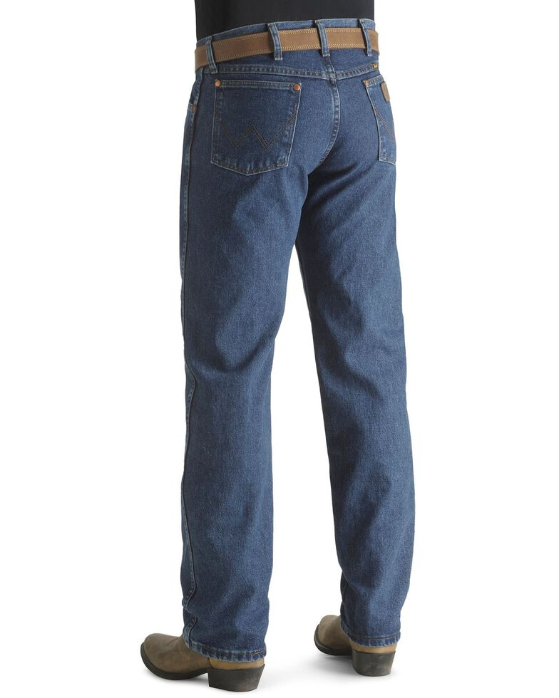 "Wrangler Jeans - 13MWZ Original Fit Premium Wash Stonewash - Big 44""- 50"" Waist, Blue, hi-res"