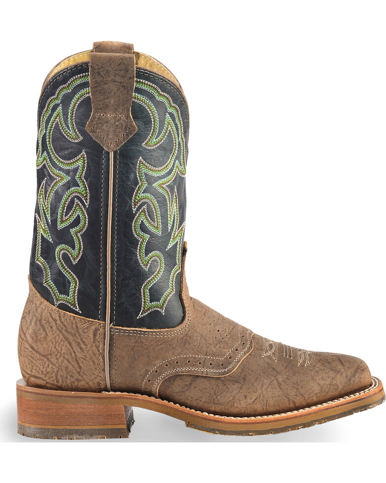 Double H Men's Brown ICE Western Leather Boots - Square Toe , Brown, hi-res
