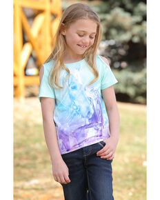 Cruel Girl Girls' Cold Shoulder Horse Head Graphic Tee, Multi, hi-res