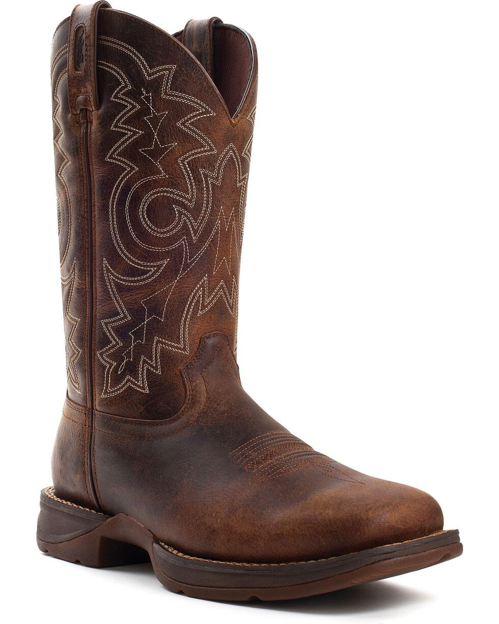 Durango Men's Steel Toe Rebel Western Boots, Brown, hi-res