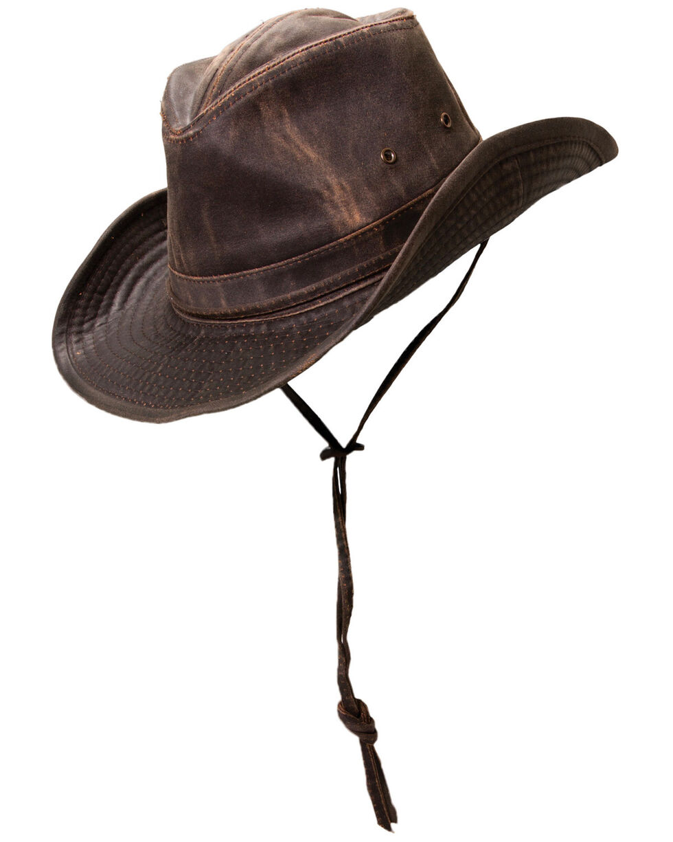 Cody James Men's Brown Outback Weathered Sun Hat, Brown, hi-res