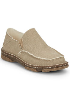 Tony Lama Men's Gator Tan Slip-On Shoes - Moc Toe, Tan, hi-res