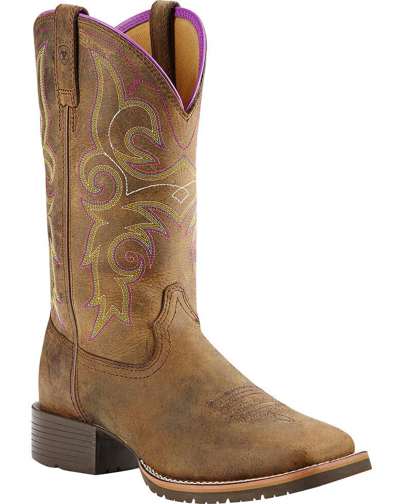 Ariat Women's Hybrid Rancher Western Boots, Brown, hi-res