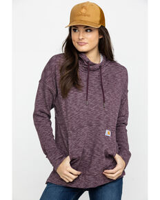 Carhartt Women's Wine Newberry Hoodie, Wine, hi-res