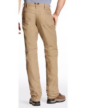 Ariat Men's Rebar M4 Stretch Canvas 5 Pocket Pants - Straight Leg , Beige/khaki, hi-res