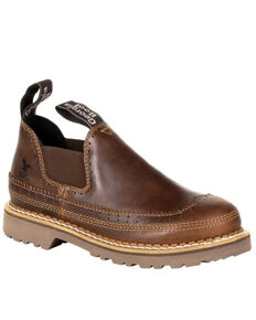 Georgia Boot Women's Giant Brown Saddle Romeo Shoes - Round Toe, Russett, hi-res