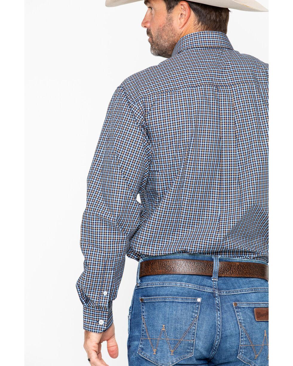 Cinch Men's Plaid Long Sleeve Western Shirt, Navy, hi-res