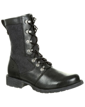 Durango Women's Drifter Lacer Boots - Round Toe, Medium Grey, hi-res