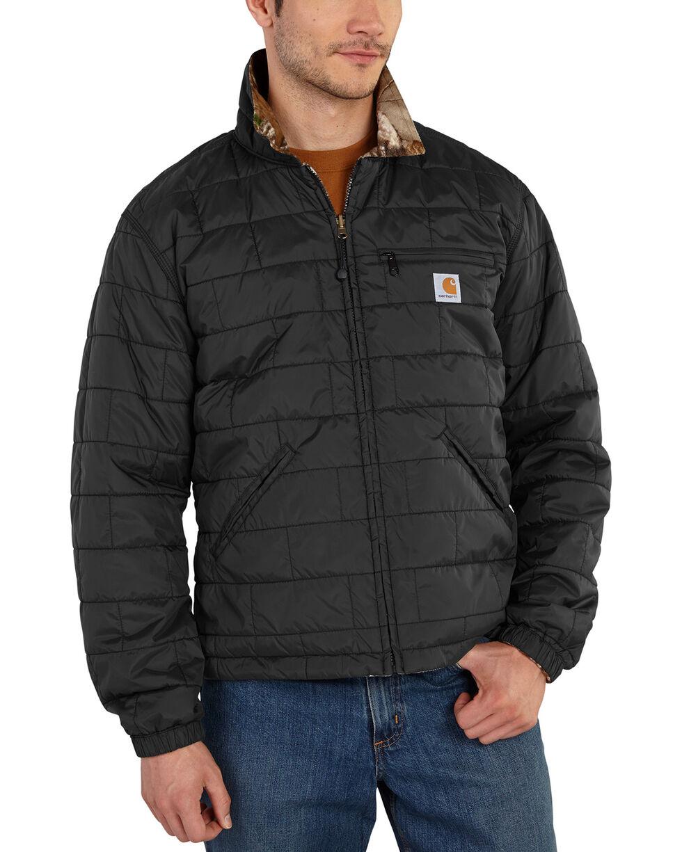 Carhartt Men's Reversible Woodsville Jacket, Black, hi-res