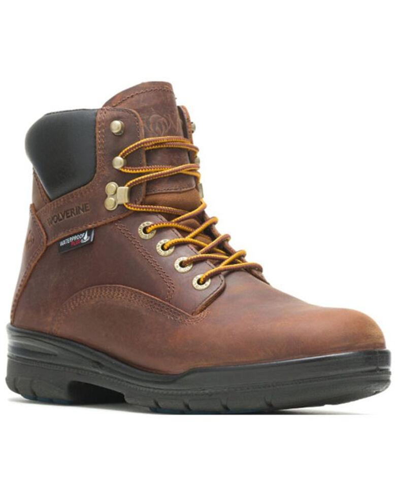 Wolverine Men's Durashocks Waterproof Work Boots - Steel Toe, Dark Brown, hi-res