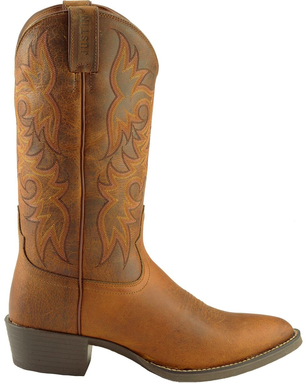 "Justin Men's 13"" Western Boots, Tan, hi-res"