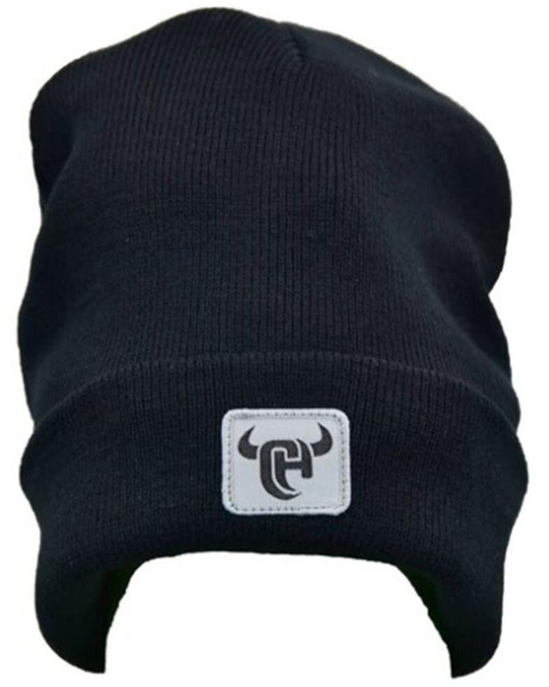 Cowboy Hardware Men's Black Knit Logo Beanie , Black, hi-res