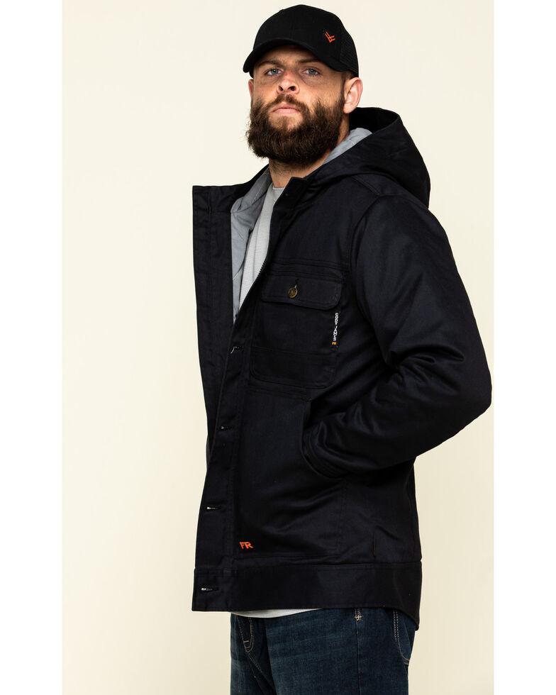 Cody James Men's FR Hooded Duck Work Jacket - Tall , Black, hi-res