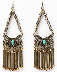 Shyanne Women's Gilded Gold Chandelier Earrings, Gold, hi-res