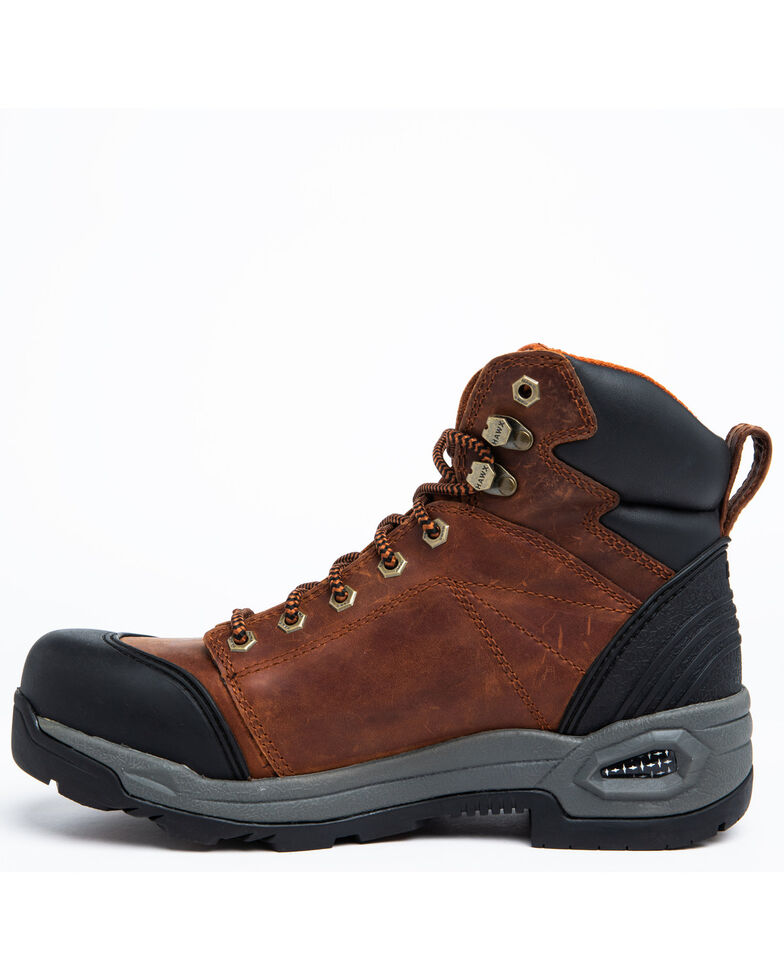Hawx Men's Rust Waterproof Work Boots - Composite Toe, Rust Copper, hi-res