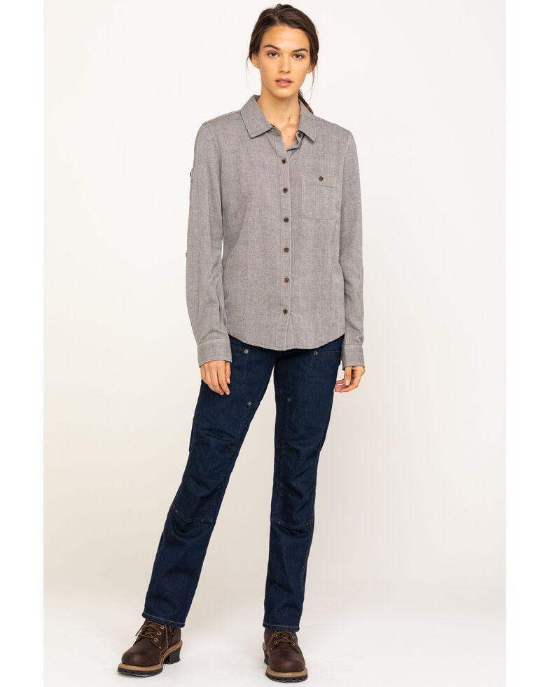 Dovetail Workwear Women's Britt Utility Indigo Denim Stretch Straight Jeans , Indigo, hi-res