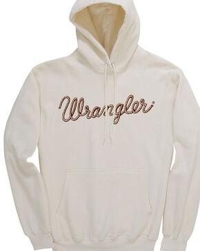 Wrangler Women's Western Fashion Hooded Sweashirt, Cream, hi-res