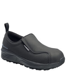 Nautilus Men's Guard Slip-On Work Shoes - Composite Toe, Black, hi-res