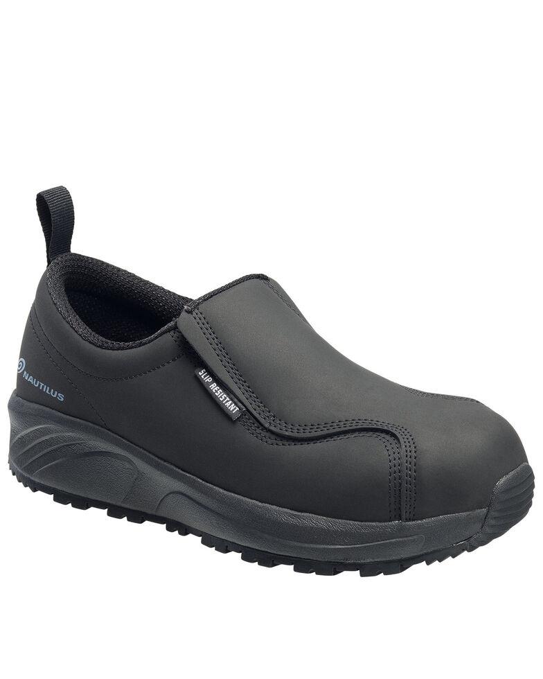 Nautilus Men's Guard Slip-On Work Shoes - Composite Toe, Black, hi-res