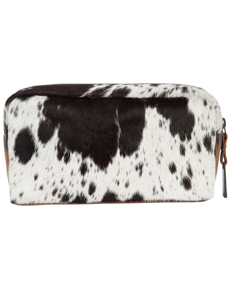 STS Ranchwear Women's Cowhide Bebe Cosmetic Bag, Brown, hi-res