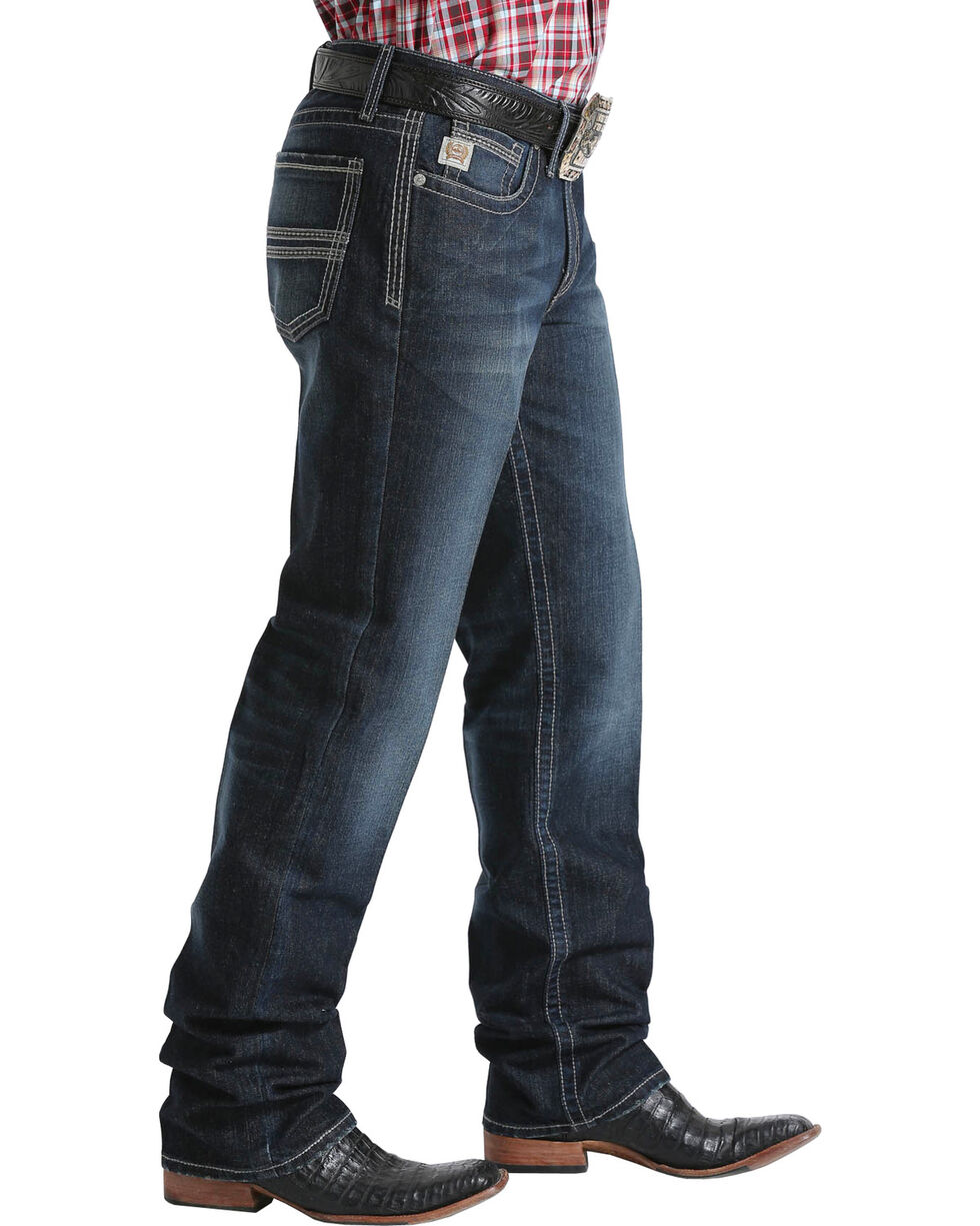 Cinch Men's Grant Mid-Rise Relaxed Fit Boot Cut Jeans, Indigo, hi-res