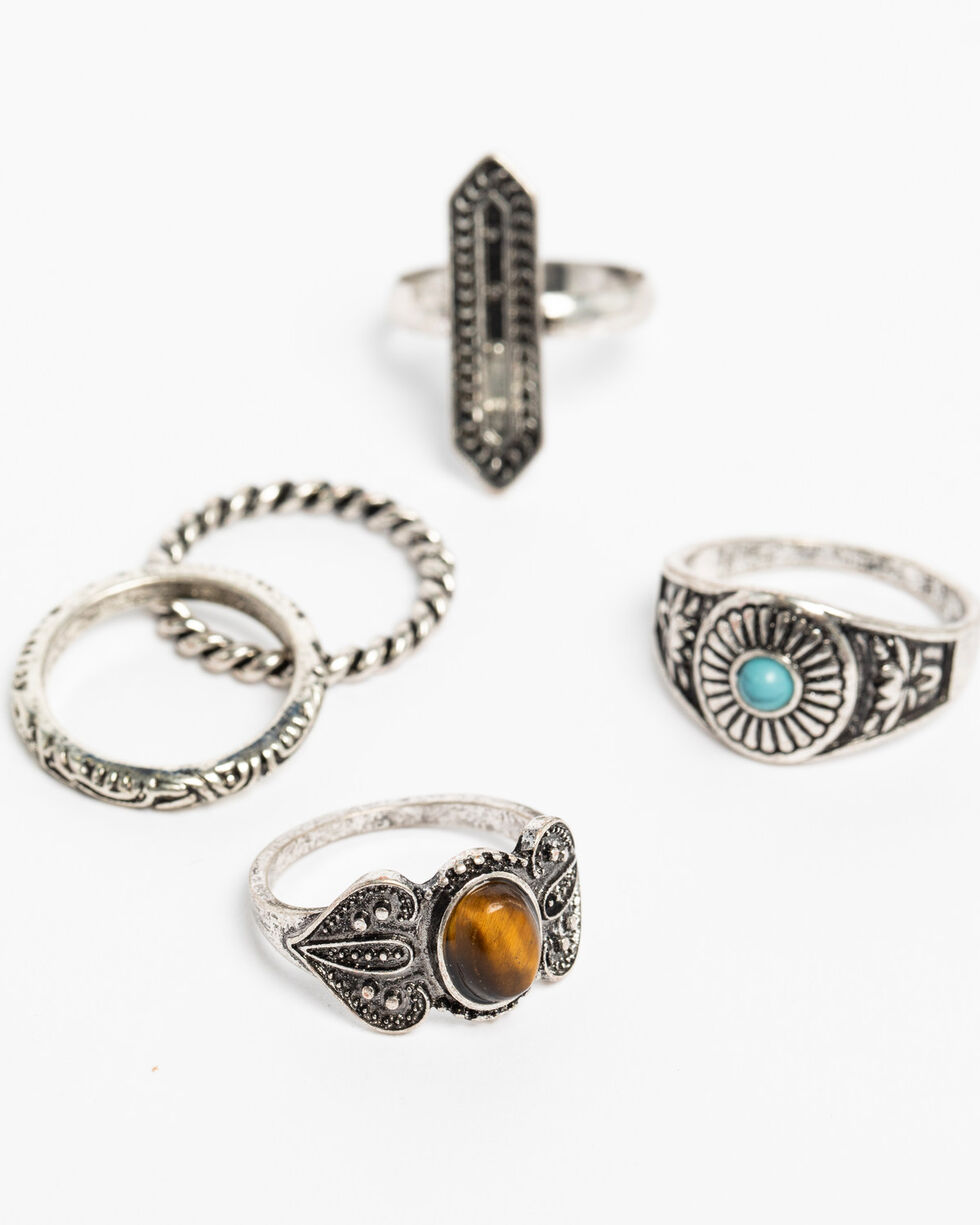 Shyanne Women's Sedona Spice Multi Ring Set, Silver, hi-res
