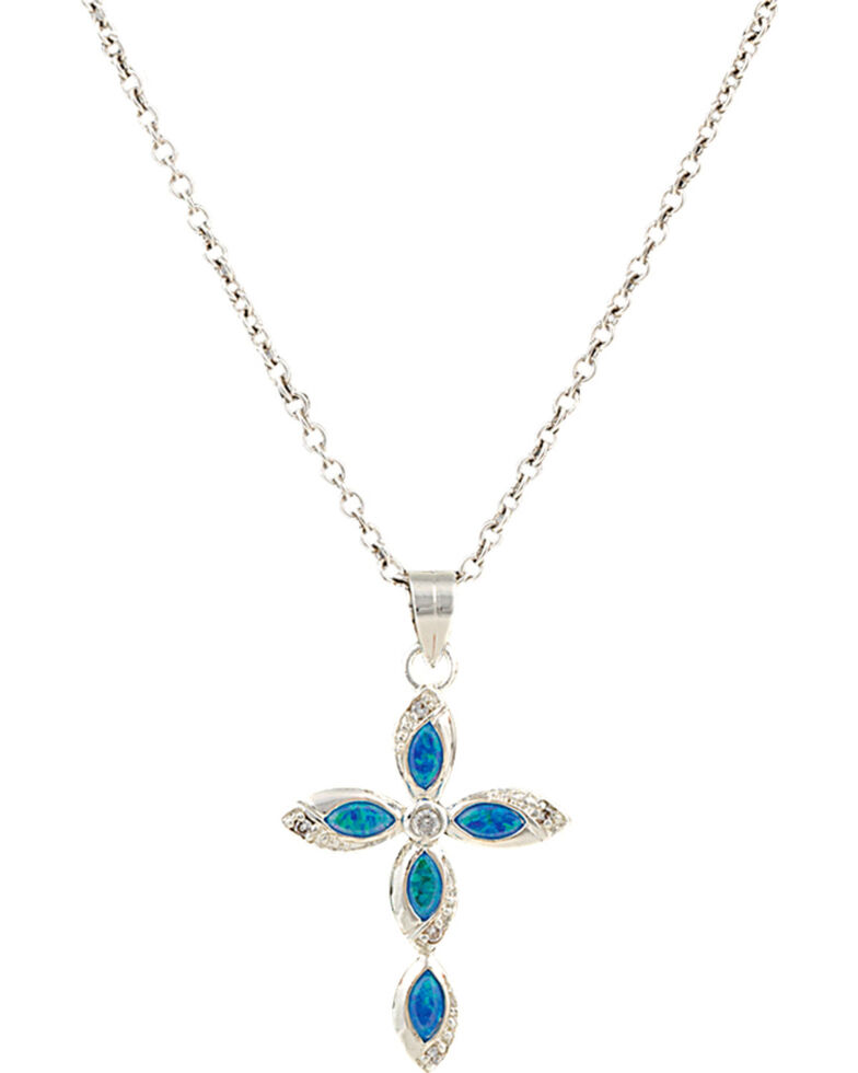 Montana Silversmiths River Lights Waters of Faith Necklace, Silver, hi-res
