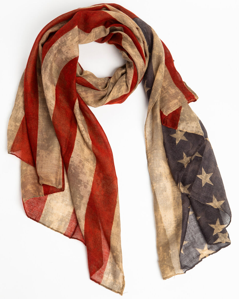 Shyanne Women's On The Road Patriotic Scarf, Multi, hi-res