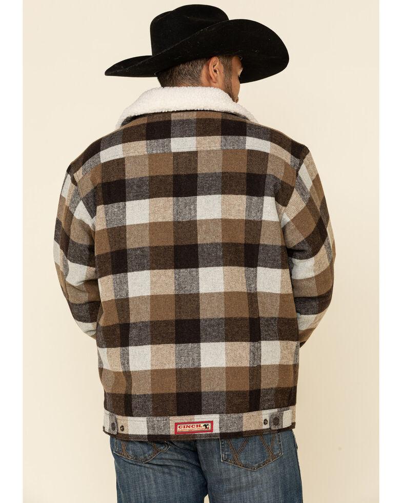 Cinch Men's Multi Plaid Concealed Carry Wool Sherpa Trucker Jacket , Multi, hi-res