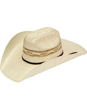 Twister Bangora Straw Cowboy Hat, Natural, hi-res