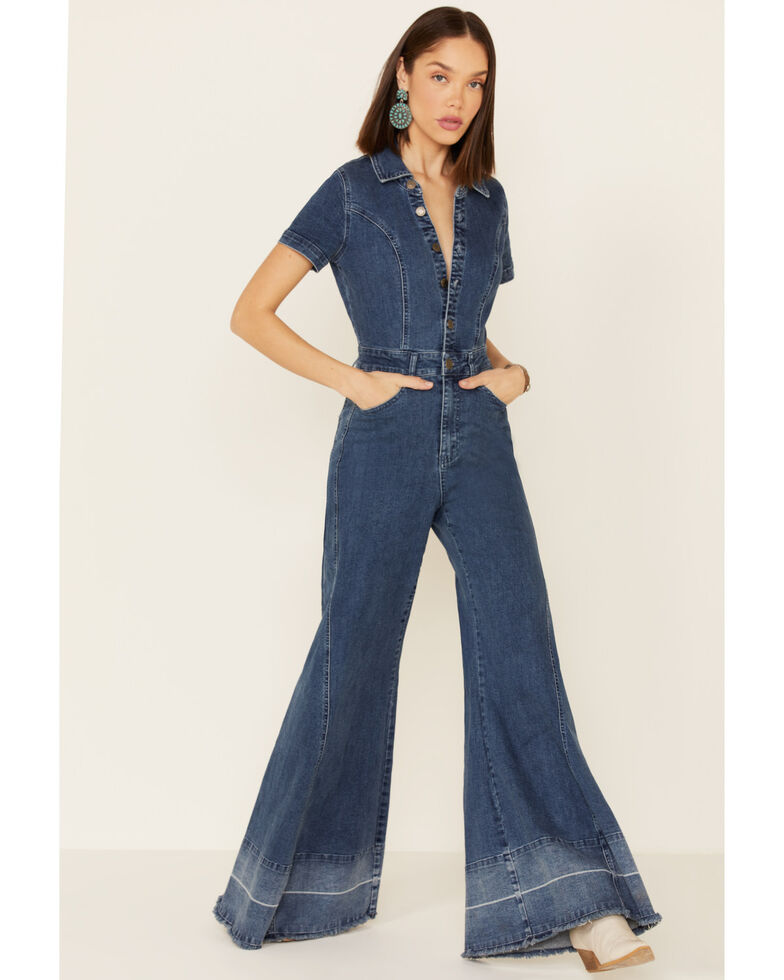 Show Me Your Mumu Women's Baltimore Denim Jumpsuit, Blue, hi-res