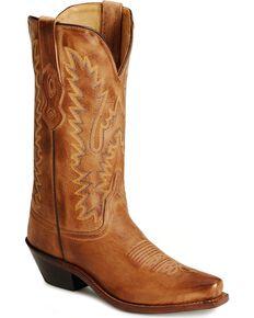 Jama Women's Snip Toe Fashion Boots, Tan, hi-res