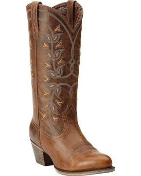 Ariat Desert Holly Cowgirl Boots - Round Toe, Pearl, hi-res