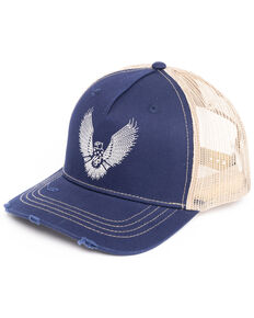 Moonshine Spirit Men's Eagle Embroidered Ball Cap , Blue, hi-res