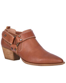 Digno Women's Kickback Fashion Booties - Snip Toe, Cognac, hi-res