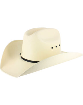 Cody James Boys' Elastic Fit Straw Cowboy Hat, Natural, hi-res